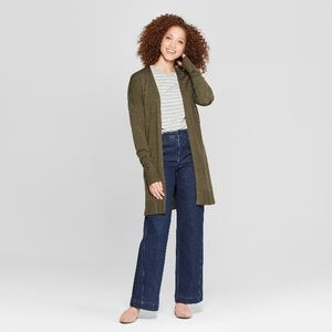 A New Day Olive Green Long Cardigan Size XXL.